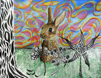 Lucky rabbit's foot by Abuttonpress2Nothing