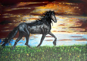 Behold a dark horse by Abuttonpress2Nothing