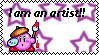 kirby as an artist -stamp- by LilaTheFireFox