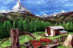 Swiss landscapes by amoxes