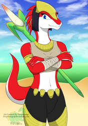 Ever Oasis Character Miura by Sceptersage