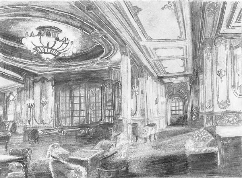 Titanic First class lounge by Genbe89
