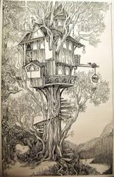 Treehouse by eralastiel