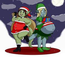 Annual Christmas Toblin Pinup Calendar by HidonRedux