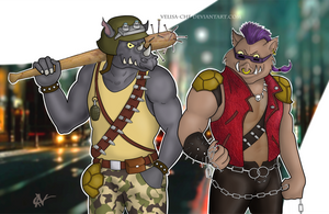 Bebop and Rocksteady by Velisa-Che