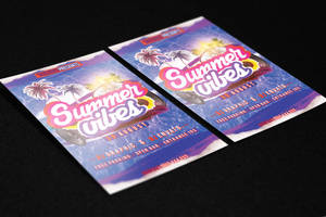 Summer Vibes Flyer Template by KlarensM
