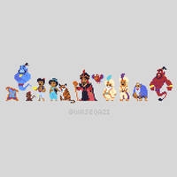 Aladdin Pixel Art by QaziArt