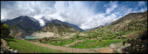 Leaving Manang by Dominion-Photography