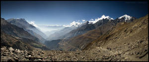 Climbing to Kewar La by Dominion-Photography