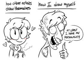 how i draw myself by stopthatrightnow