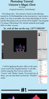 -Photoshop Tutorial- Unicorn's Magic Glow by Pirill-Poveniy