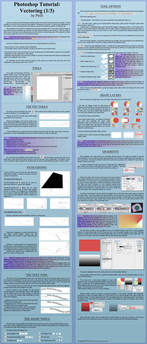 -Photoshop Tutorial- Vectoring (Part 1/3) by Pirill-Poveniy
