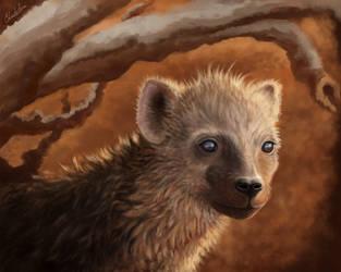Hyena Pup by grumkinz