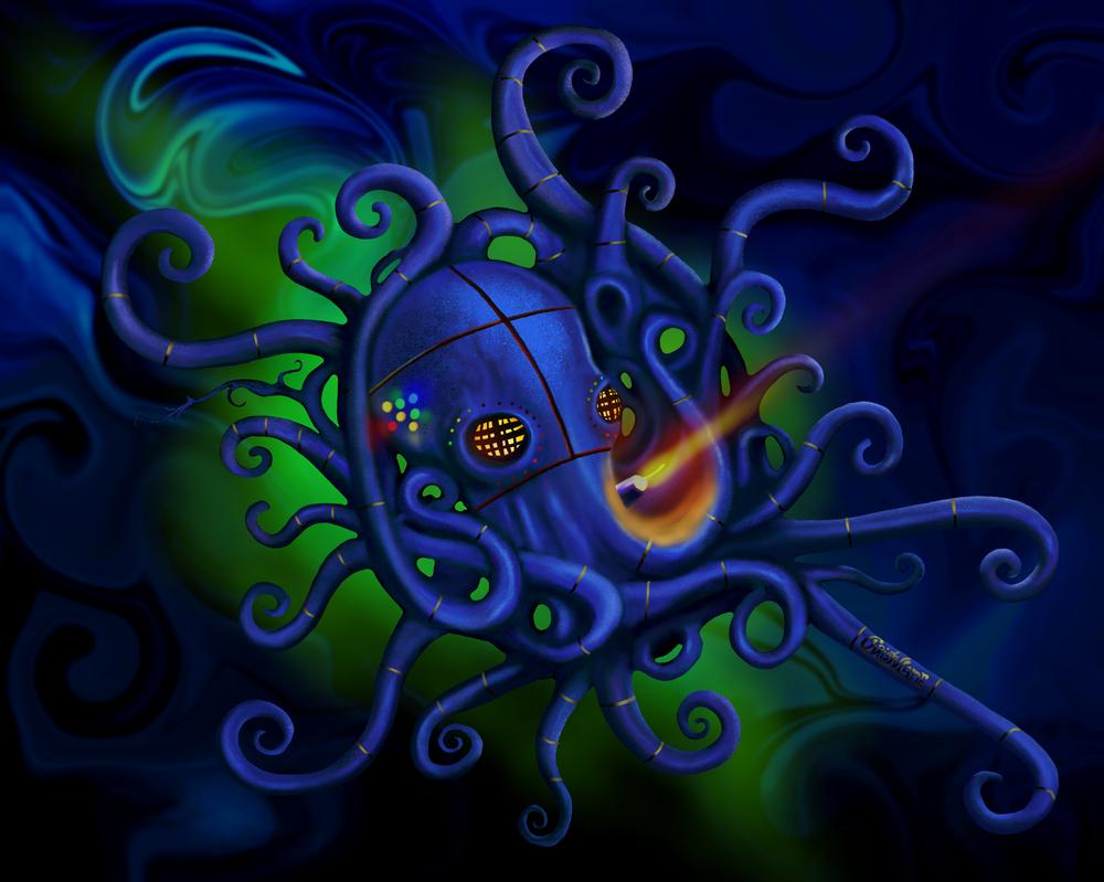 Fukushima octopus by grumkinz