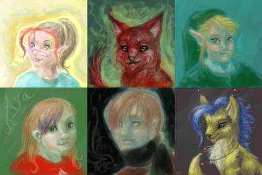Six portraits by Cuniculosa