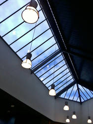 school library skylight by misguidedRainbows