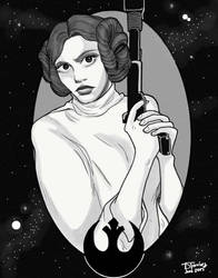 Princess Leia by RubyRojos