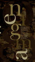 Enigma Type Poster by Crutchfield-Creative