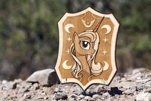 'Praise the Moon' by Spectty - Final Laser Cut by Earth-Pony