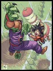 Goku Vs. Piccolo by MarcelPerez