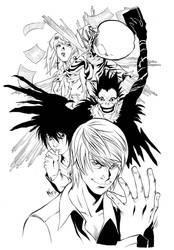 Death Note Remake Inks by MarcelPerez