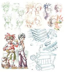 Watercolor Sketches1- Concepts by MarcelPerez