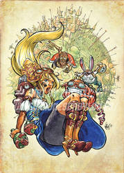 Steampunk Alice in Wonderland by MarcelPerez