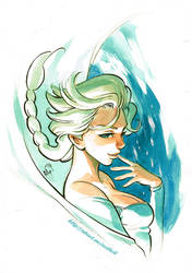 Frozen - Elsa Pinup by MarcelPerez