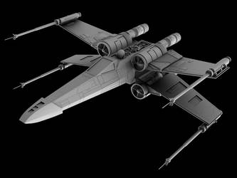X-Wing front render by Silver-Reaper