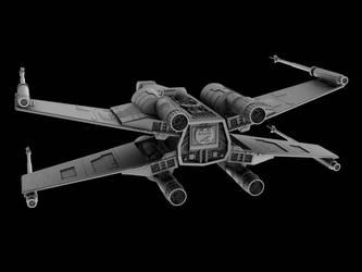 X-wing rear render by Silver-Reaper