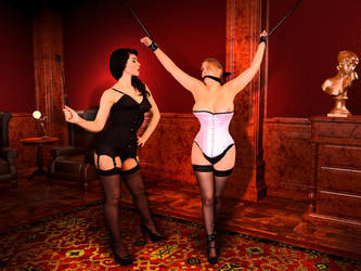 Being tormented by Mistress at the members club by AlaisPeach