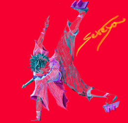 Red Rough Mugen Dance Combat by Seveya