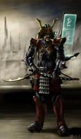 Cyberpunk Samurai by JanBoruta