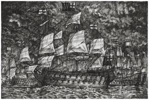 The Battle of Solebay by JanBoruta