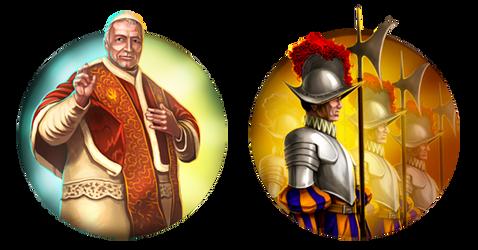 Civilization 5 Icons: The Papal States by JanBoruta