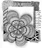 Zentangle #28 by Art-Ju