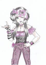 Scene Girl - Purple by Shadow-chan93
