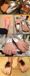 Hobbit Feet Process by deeed