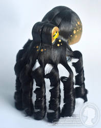 Black and Gold Octopus Fascinator by deeed