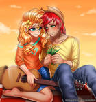 BrightMac and PearButter by RacoonKun