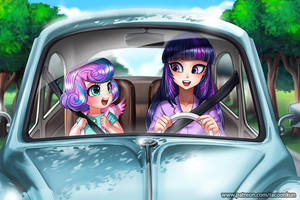 In Car by RacoonKun