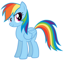 Rainbow Dash - Epic Stance by MrLolcats17
