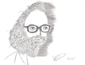 Trying to draw Allen Ginsberg by kingmoloch