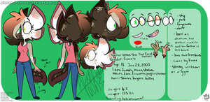 Venus the Two Faced Axolotl ref sheet by AlexandraToons
