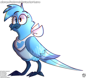 twitter bird by AlexandraToons