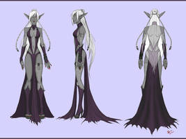 Drow Mother Turn-around by BluFireDragon667