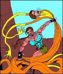 Elasti-Man vs Lara Croft 1 by Thingama99