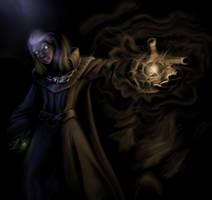 Drow mage by CornelioDragon