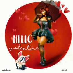 Hello Valentine by corpor8chic