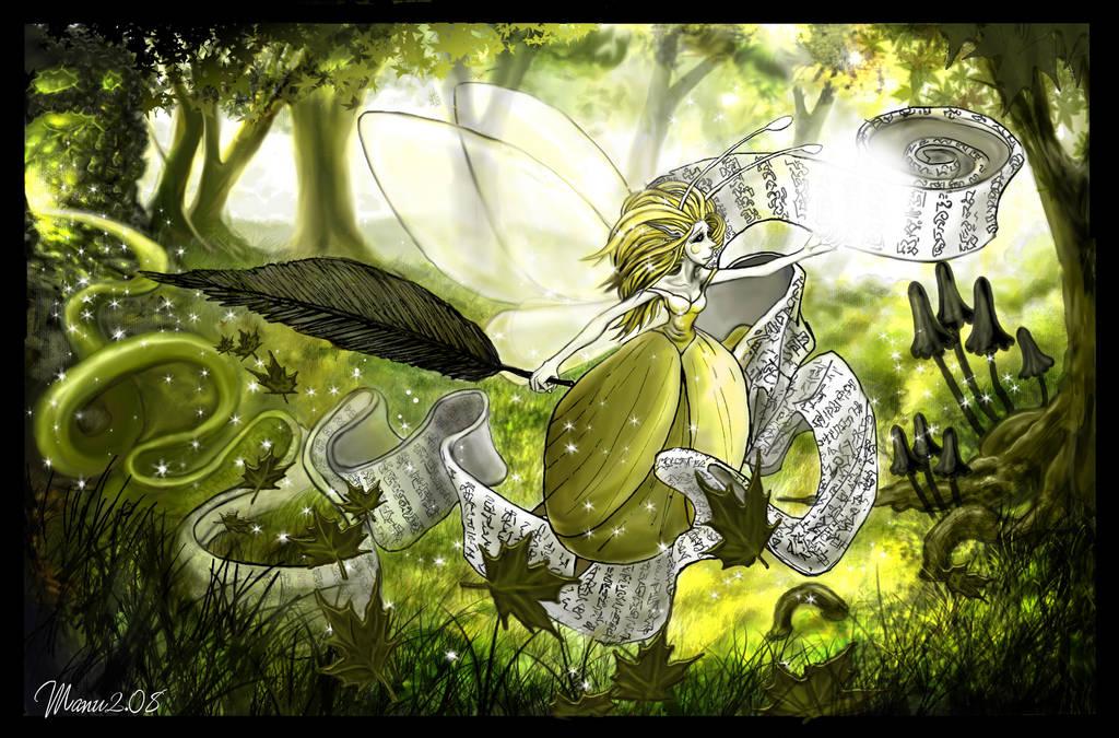 Calligra-Fee - Pen-Fairy-Ship by Manu-2005